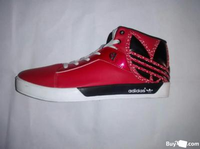 Red adidas sneakers for sale