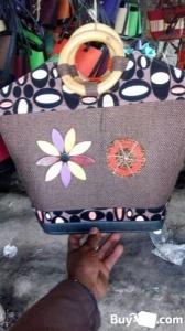 wooden handle fibre bags for sale